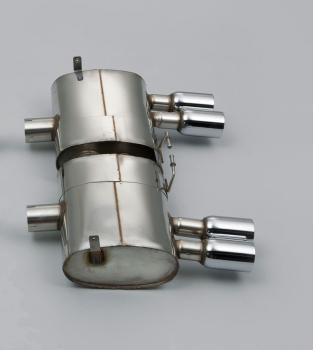 Endschalldämpfer- Rear Silencer Quad 80mm Special Polished